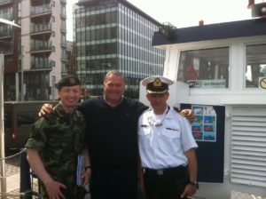 Captain Ray Kane, Eugene Garrihy and Captain Cormac Rynne