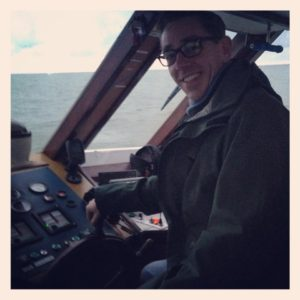 Ryan Tubridy on board the St Bridget